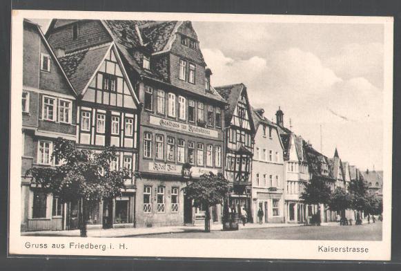 friedberg hessen kaiserstra e sammler stellen sich vor alte ansichtskarten postkarten. Black Bedroom Furniture Sets. Home Design Ideas