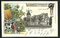 old postcard: AK Hannover, Lister-Thurm, Private Stadtpost
