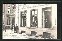 old postcard: AK Armentières, Souvenir des Grèves, 13 Octobre 1903, La Maison Decourchelle-Debay, Streik