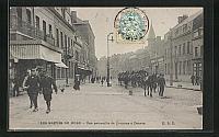 old postcard: AK Denain, Les Grèves du Nord, Une patrouille de Dragons, Streik