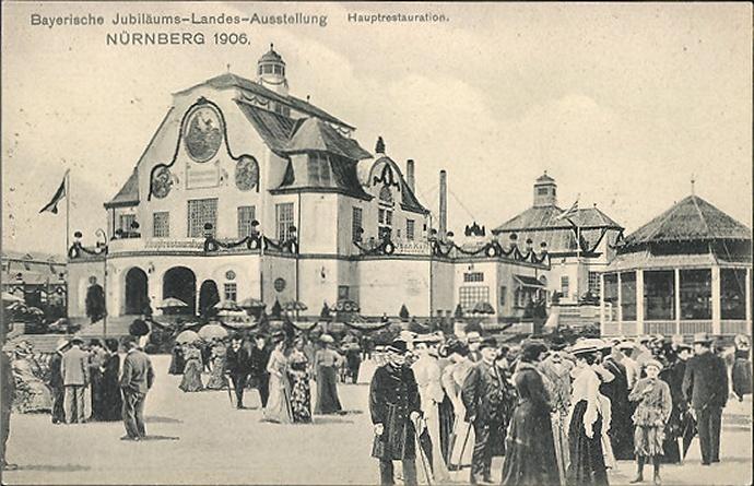 bayerische jubil ums landes ausstellung in n rnberg 1906 ansichtskarten geschichten alte. Black Bedroom Furniture Sets. Home Design Ideas