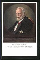 old postcard: AK Portrait König Ludwig III.